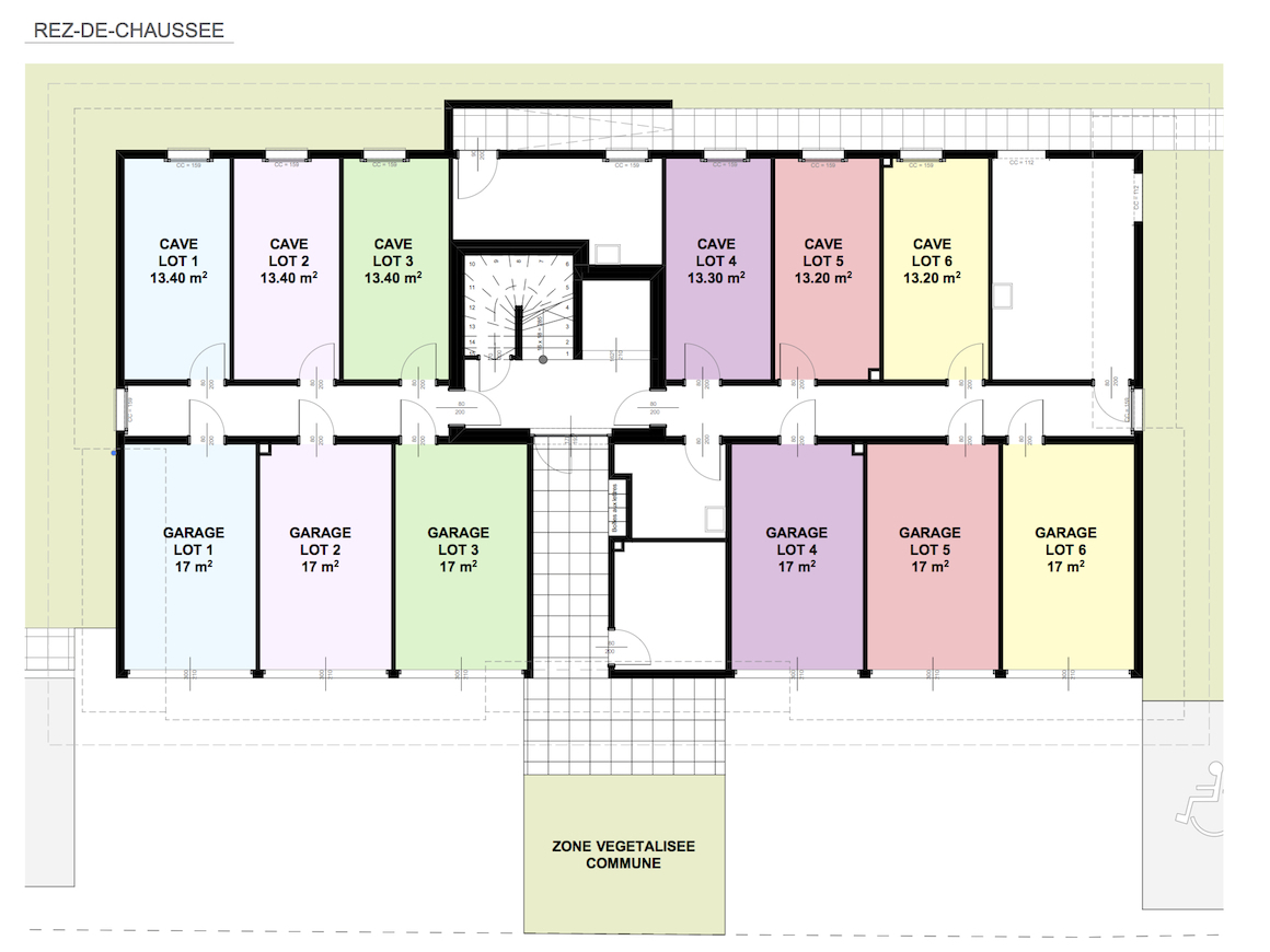 plan appartement immeuble